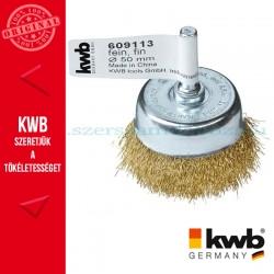 KWB PROFI réz hullámos drótkefe csésze 0,2 x 50 mm