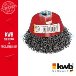 KWB PROFI AGGRESSO-FLEX® HSS STELL M14 hullámos drótkefe 0,35 x 60 mm