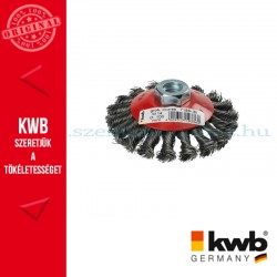 KWB PROFI AGGRESSO-FLEX® HSS STELL M14 hullámos fonott kúpos drótkorong 18 drótcsomó 0,5 x 100 mm