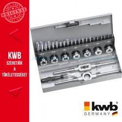 KWB PROFI HSS menetfúró, menetmetsző klt. 31 db fém dobozban