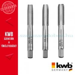 KWB PROFI HSS három lépéses menetfúró 6 mm DIN 352 - 3db