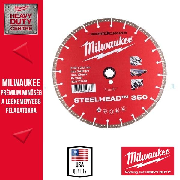 Milwaukee STEELHEAD Gyémánt vágókorong 350mm ACÉLOKHOZ
