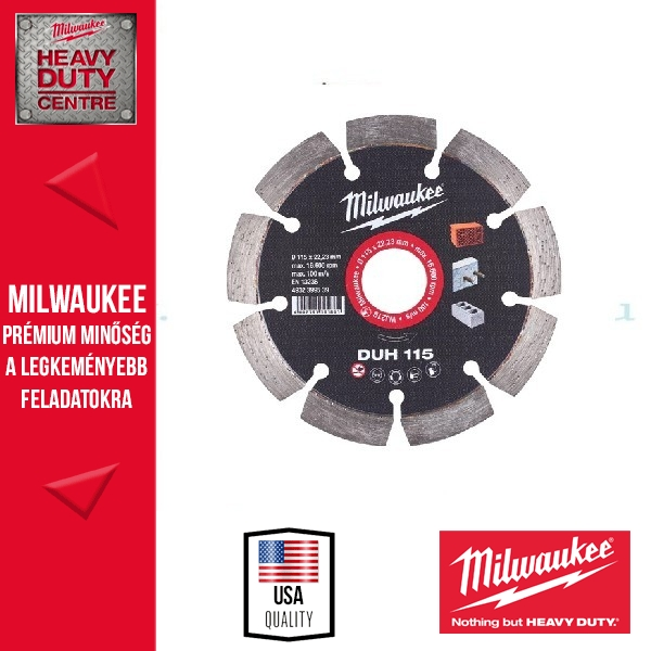 Milwaukee DUH115 Gyémánt vágókorong 115mm