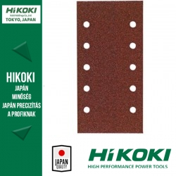 Hikoki (Hitachi) 10lyukú tépőzáras csiszolópapír (rezgőcsiszolókhoz) - 115 x 230mm / K320 - 10db/csomag