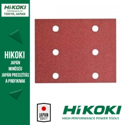 Hikoki (Hitachi) 6lyukú csiptetős csiszolópapír (rezgőcsiszolókhoz) - 114 x 140mm / K40 - 10db/csomag