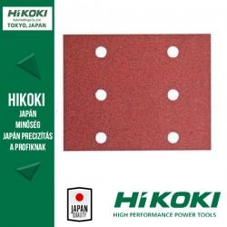 Hikoki (Hitachi) 6lyukú csiptetős csiszolópapír (rezgőcsiszolókhoz) - Vegyes készlet 114 x 140mm / K60/80/120 - 15db/csomag