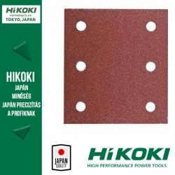 Hikoki (Hitachi) 6lyukú tépőzáras csiszolópapír (rezgőcsiszolókhoz) - 114 x 104mm / K80 - 10db/csomag