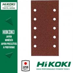 Hikoki (Hitachi) 8lyukú csiptetős csiszolópapír (rezgőcsiszolókhoz) - 93 x 230mm / K80 - 10db/csomag