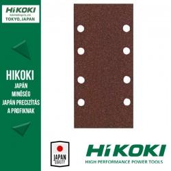 Hikoki (Hitachi) 8lyukú tépőzáras csiszolópapír (rezgőcsiszolókhoz) - 93 x 185mm / K80 - 10db/csomag