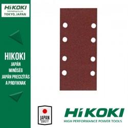 Hikoki (Hitachi) 8lyukú csiptetős csiszolópapír (rezgőcsiszolókhoz) - 83 x 166mm / K80 - 10db/csomag