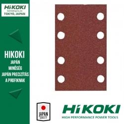 Hikoki (Hitachi) 8lyukú tépőzáras csiszolópapír (rezgőcsiszolókhoz) - 83 x 133mm / K80 - 10db/csomag