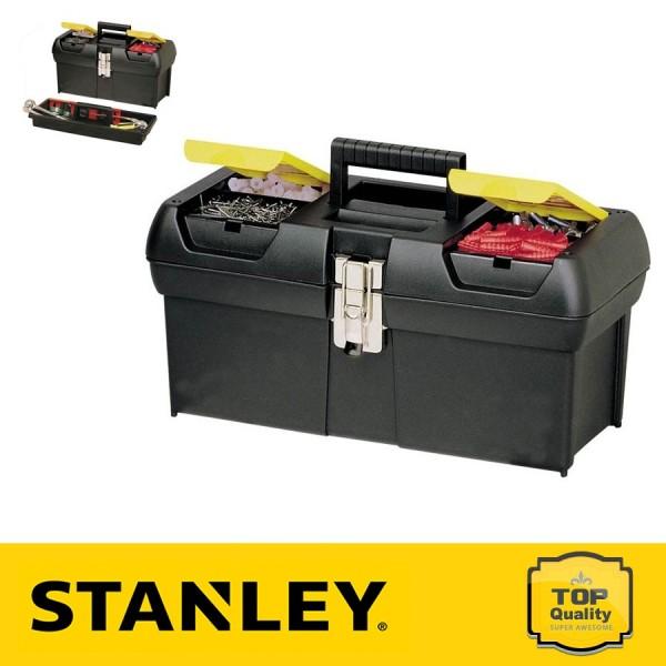 """Stanley 16"""" Fémcsatos szerszámosláda szortimenterrel"""