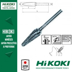 "Hikoki (Hitachi) Turbómaró 6mm befogás - DIN 8033 ""KEL"" / ISO ""L"" FORMA - 780778"
