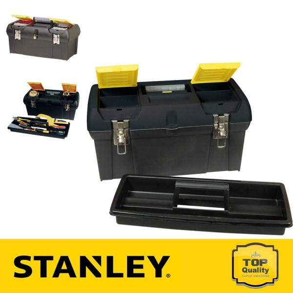 """Stanley 24"""" Fémcsatos szerszámosláda szortimenterrel"""