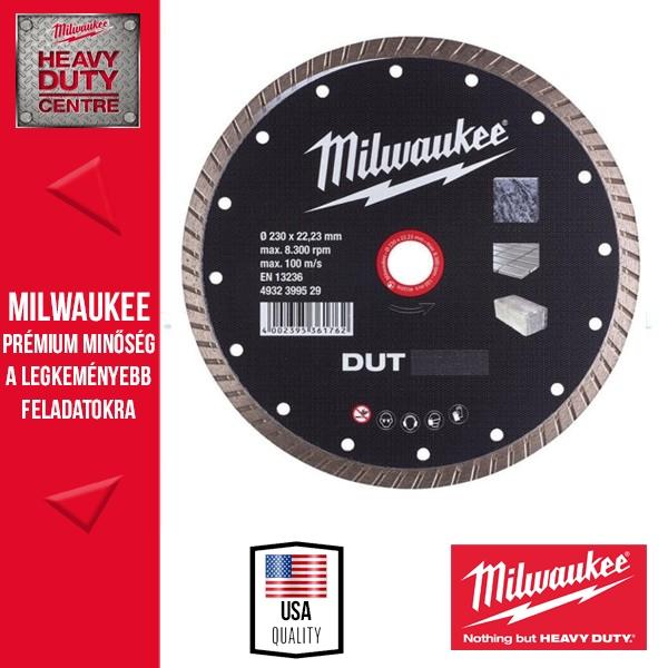 Milwaukee DUT 230 Gyémánt vágótárcsa