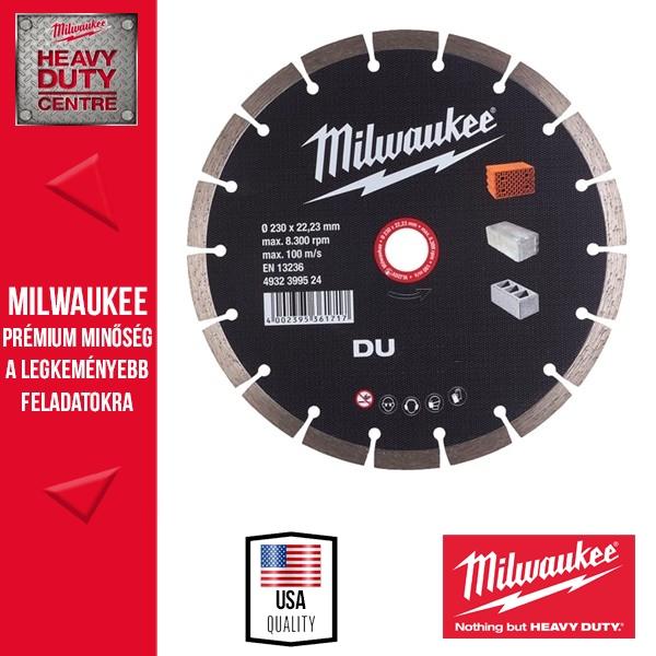 Milwaukee DU 180 Gyémánt vágótárcsa