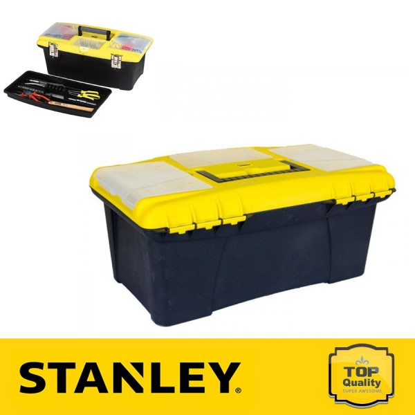 """Stanley 16"""" Jumbo fémcsatos szerszámosláda"""