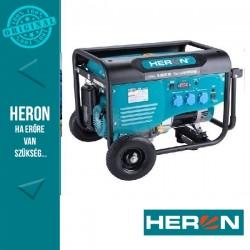 HERON benzinmotoros áramfejlesztő, max 5500 VA, egyfázisú