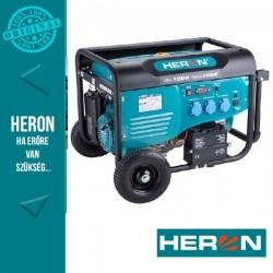 HERON benzinmotoros áramfejlesztő, max 5500 VA, egyfázisú, elektromos önindítóval