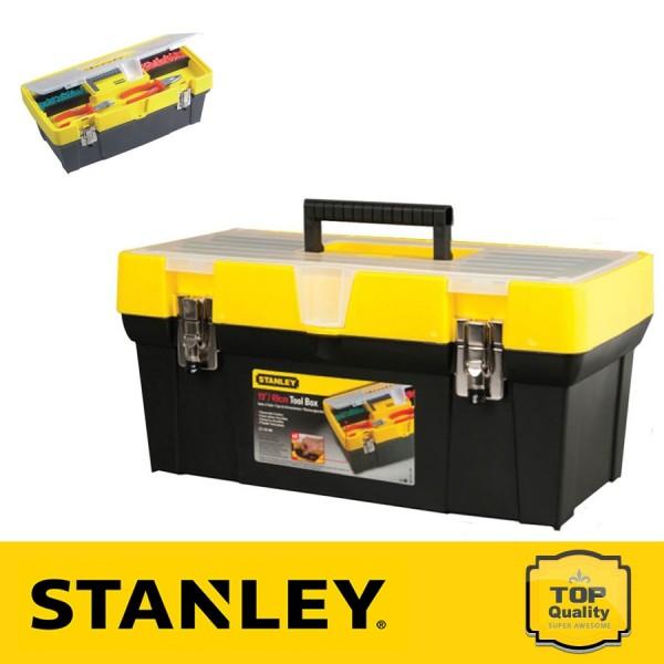 """Stanley 19"""" Átlátszó fedelű szerszámdoboz + csavartartó"""