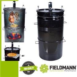 FZG 1250  Faszenes grillsütő füstölő kamrával