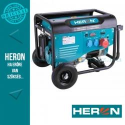HERON benzinmotoros áramfejlesztő, max 6000 VA, háromfázisú