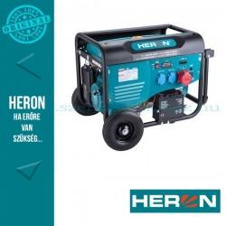 HERON benzinmotoros áramfejlesztő, max 6000 VA, háromfázisú, elektromos öninditóval