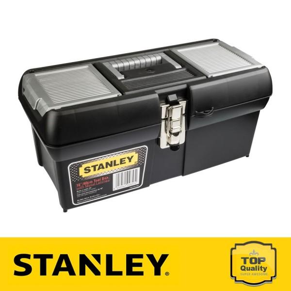 """Stanley 16"""" Műanyag szerszámosláda fém csattal"""