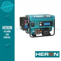 HERON benzinmotoros áramfejlesztő + HAV1 inditó aut. + GSM, max 5500 VA, egyfázisú, elektromos önindítóval (EGM-55 AVR-1E)