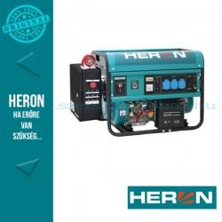 HERON benzinmotoros áramfejlesztő inditó automatikával (HAE-3/1), max 5500 VA, egyfázisú, (EGM-55 AVR-1E)
