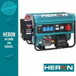 HERON benzinm. áramfejlesztő + HAV-3 indító automatika, max 6000 VA, háromfázisú, elektromos öninditóval (EGM-60 AVR-3E)