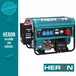 HERON benzinm. áramfejlesztő + HAV-3 indító automatika + GSM, max 6000 VA, háromfázisú, elektromos öninditóval (EGM-60 AVR-3E)