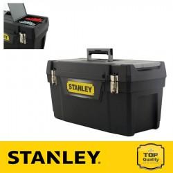 """Stanley 25"""" Műanyag szerszámosláda fém csattal"""