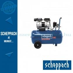 Scheppach HC 50 Si - Csendes olajmentes kéthengeres kompresszor 50 literes, 8 bar