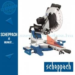 Scheppach HM 140 L - gérvágó fűrész húzófunkcióval lézerrel, két oldalra dönthető