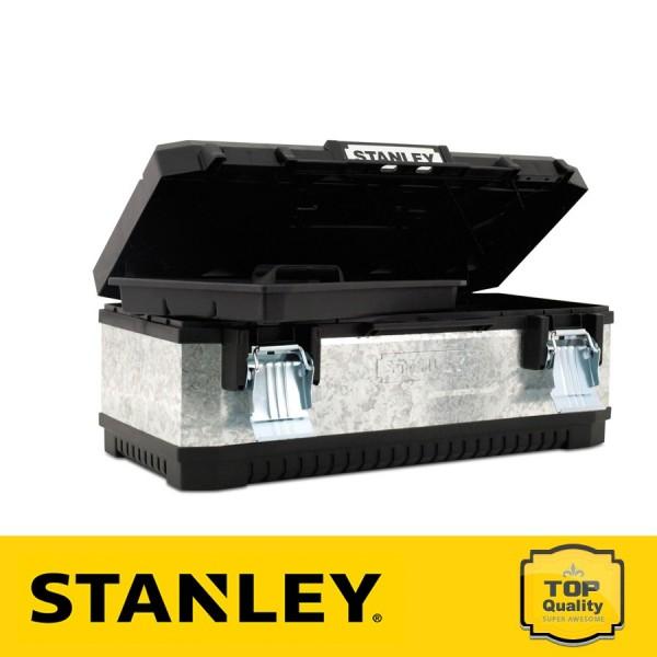 """Stanley 20"""" Galvanizált fém /műanyag szerszámos láda"""