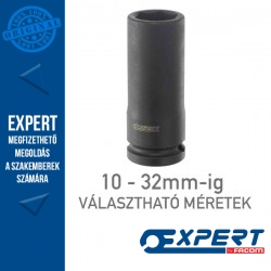 """Expert (by FACOM) 1/2"""" 6 Szögű GÉPI DUGÓKULCSOK 10-32mm-ig Hosszú"""