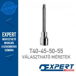 """Expert (by FACOM) 1/2"""" DUGÓKULCSOK Külső Torx Bit T40-T55-ig Hosszú"""