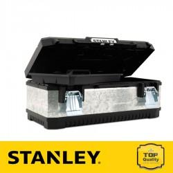 """Stanley 23"""" Galvanizált fém /műanyag szerszámos láda"""