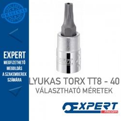 "Expert (by FACOM) 1/4"" DUGÓKULCSOK  Lyukas Torx Bit TT8-TT40-ig"