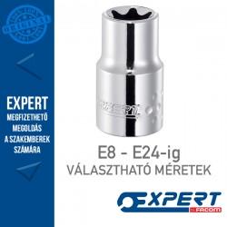 "Expert (by FACOM) 1/2"" DUGÓKULCSOK Belső Torx E8-E24-ig"