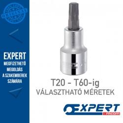"""Expert (by FACOM) 1/2"""" DUGÓKULCSOK Külső Torx Bit T20-T60-ig"""