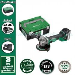 Hitachi (HiKOKI) G18DBBL-5AH Akkus Szénkefementes Sarokcsiszoló.Hitbox