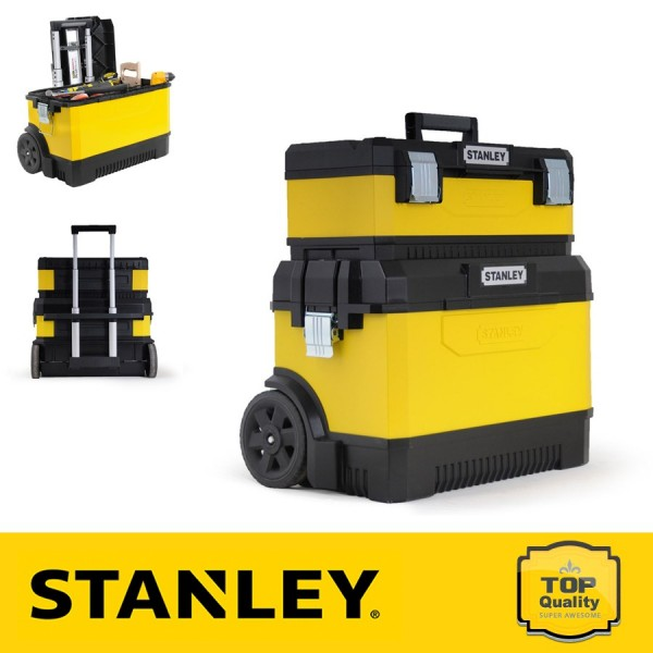 Stanley Fém-műanyag szállító + szerszámdoboz
