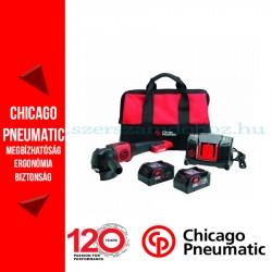 Chicago Pneumatic CP8350 Akkumulátoros sarokcsiszoló készlet 20V 2x4.0Ah akkuval