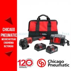Chicago Pneumatic CP8350 Akkumulátoros sarokcsiszoló 20V 2x6.0Ah akkuval