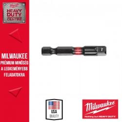 "Milwaukee Shockwave Dugókulcs adapter 1/4"" Hex - 1/4"" Négyszög 50mm - 1db"