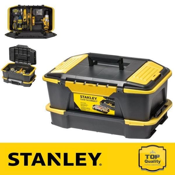 Stanley Click & Connect Szerszámosláda és csavartartó