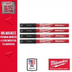 Milwaukee INKZALL™ Filctoll 0,6 mm hegyű Fekete (4 darabos kiszerelés) 1 db