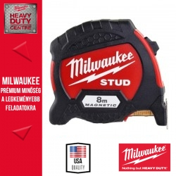 Milwaukee STUD Mágneses Mérőszalag 8 m / 33 mm - 1 db